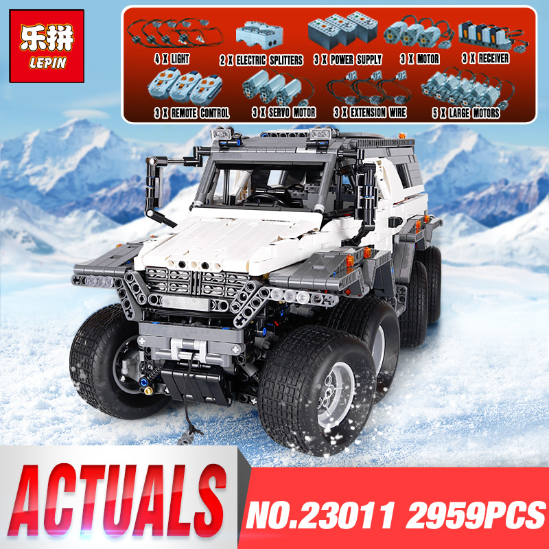 New LEPIN 23011 2959 pcs Technic Series Off-road Vehicle Model Building Kits Block Educational Bricks Christma Toys legoing Gift 2816 pcs lepin 23011 technic series off road vehicle model moc assembling building kits block bricks compatible 5360 toy