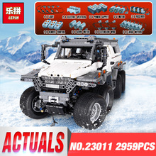 New LEPIN 23011 2959 pcs Technic Series Off-road Vehicle Model Building Kits Block Educational Bricks Christma Toys legoing Gift