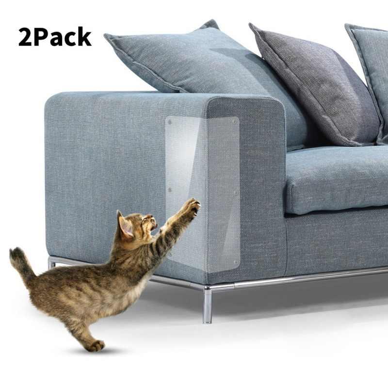 2 cái Mèo Couch Chặn Đứng Mọi Khỏi Bị Trầy Xước Pad Mèo Scratch Sticker Đặt Đồ Nội Thất Bị Bảo Vệ (10 Móng Tay)