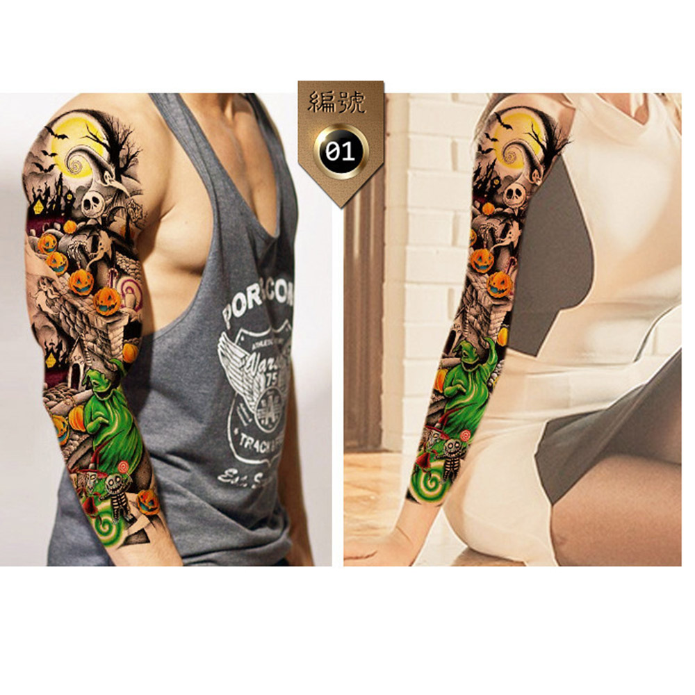 Pattern waterproof arm sleeve body shoulder temporary tattoo sticker - 10pcs Set Animal Pattern Full Arm Shoulder Tattoo Sticker Special Men And Women Waterproof Temporary Tattoo Body Makeup In Temporary Tattoos From Beauty