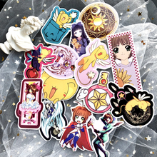 15pcs Cute Cartoon Cardcaptor Sakura Car Stickers suitcase laptop skateboard phone motorcycle Sticker Decoration Graffiti decal