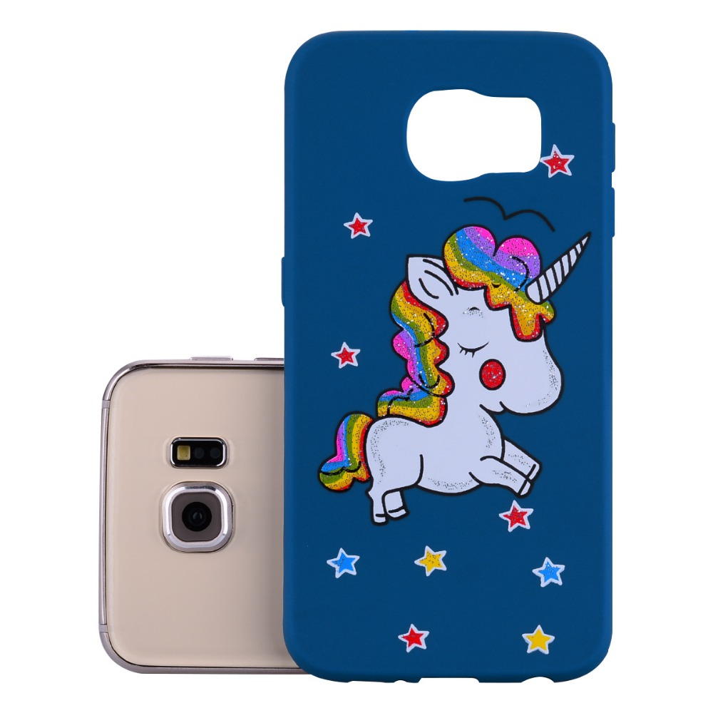 lOVELY Unicorn Case For Samsung Galaxy S6 G920 G920f G9200 Pegasus Phone Silicone Cover For Sansumg Galaxy S6 S 6 Coque ...