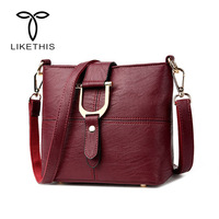 Women Handbag Female PU Leather Bags Handbags Fashion Designer Ladies Portable Shoulder Bag Office Ladies Hobos Bag Totes 2584