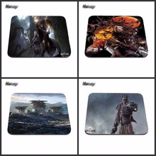 High Promoting The Witcher Wild Hunt Silicone Rectangular Mouse Pads Mice Mat Mouse Pad 18*22cm and 25*29cm