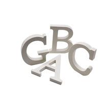 Letras do alfabeto de madeira para decoração de casa, palavra do alfabeto para feliz aniversário, casamento, suprimentos, chá de bebê, branco, 1 peça