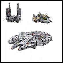 In Stock Free shipping LEPIN 05006 05007 05030 Millennium Falcon Model Toys building blocks marvel Kids
