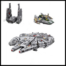 In Stock Free shipping LEPIN 05006 05007 05030 Millennium Falcon Model font b Toys b font