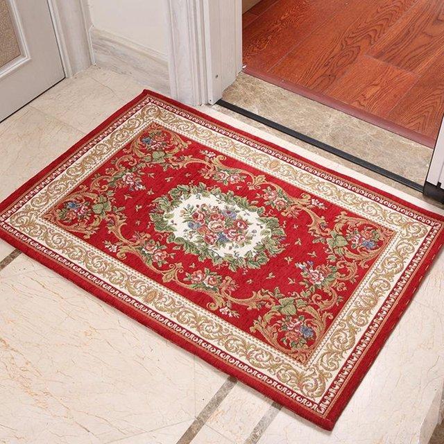 Door Area Rugs : Flower pattern bathroom door mat traditional handmade area