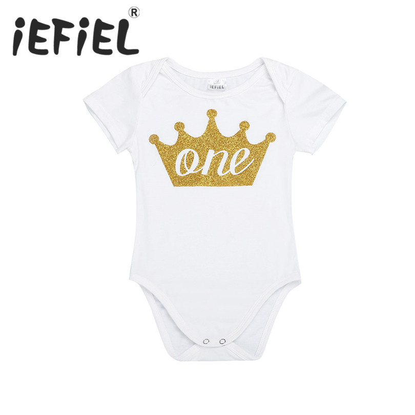 348e3d990da 2017 Newborn baby infant girls Kids My first Birthday Romper Jumpsuit for Party  Birthday Holiday Costume
