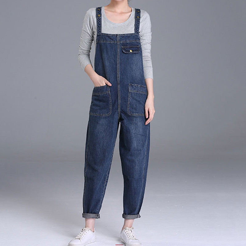 Plus-Size-4XL-5XL-Boyfriend-Jeans-For-Women-Pockets-Denim-Jumpsuits-Long-Pants-Women-Harem-Jeans_