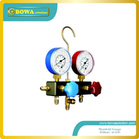 R404a, R134a and R22 manifold Gauge set with imported hose for cold room equipment repair
