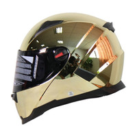 Chrome Racing Full Face Motorcycle Helmet Motor Bike Street Capacetes Casco FF861 C