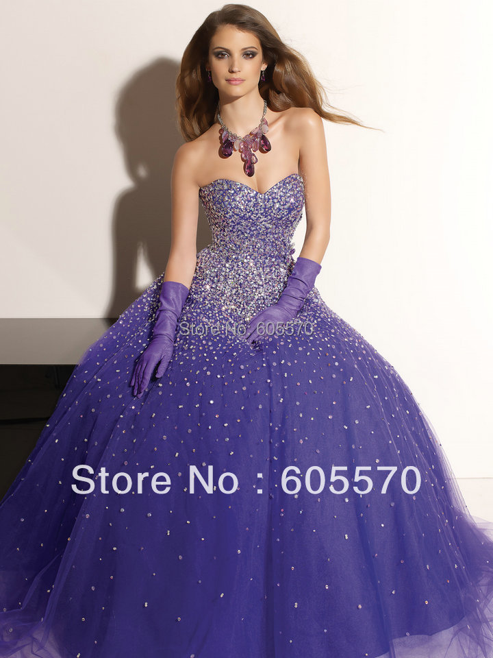 Online Shop 2014 Free Shipping Purple and Pink Quinceanera Dresses ...