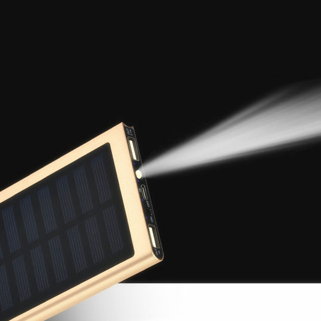 Solar Power 20000 mAh Double USB Power Bank