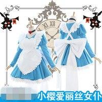 Nouveau Vêtements Chaude Anime Card Captor Sakuran Alice Sakura Maid Cosplay Costume O
