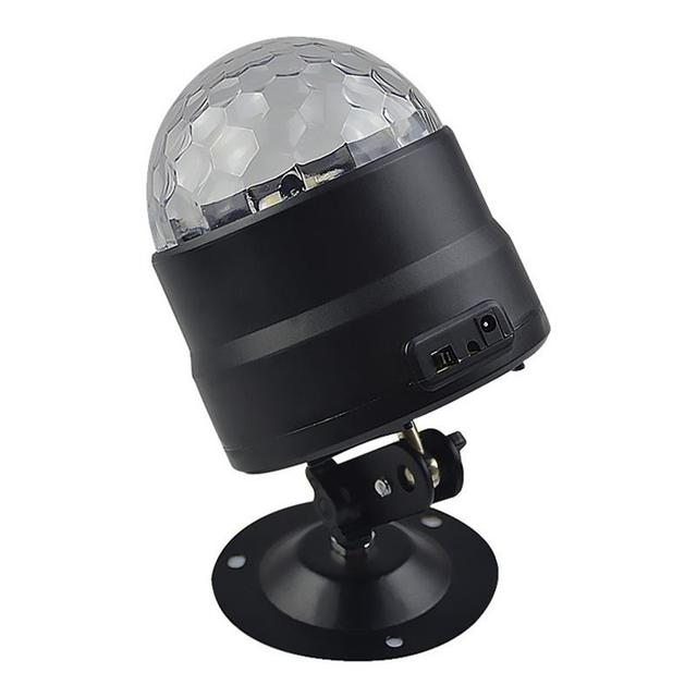 BRIGHTINWD New Dj Voice Control USB Mini Led Stage Light Disco Ktv Bar Room Family Party Crystal Small Magic Ball Light Flash 2
