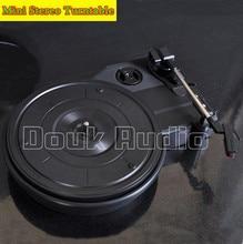 2016 Nouveau Douk Audio Mini Stéréo 3-vitesse Platine Rétro LP Vinyle Tourne-disque PC USB Enregistrement HiFi Livraison Gratuite