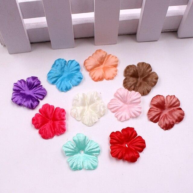 100 قطع الزهور الاصطناعية الورود البتلة أوراق الحرير لوازم ديكورات زفاف للمنزل DIY سكرابوكينغ فلوريس اكسسوارات مصنع الحلي
