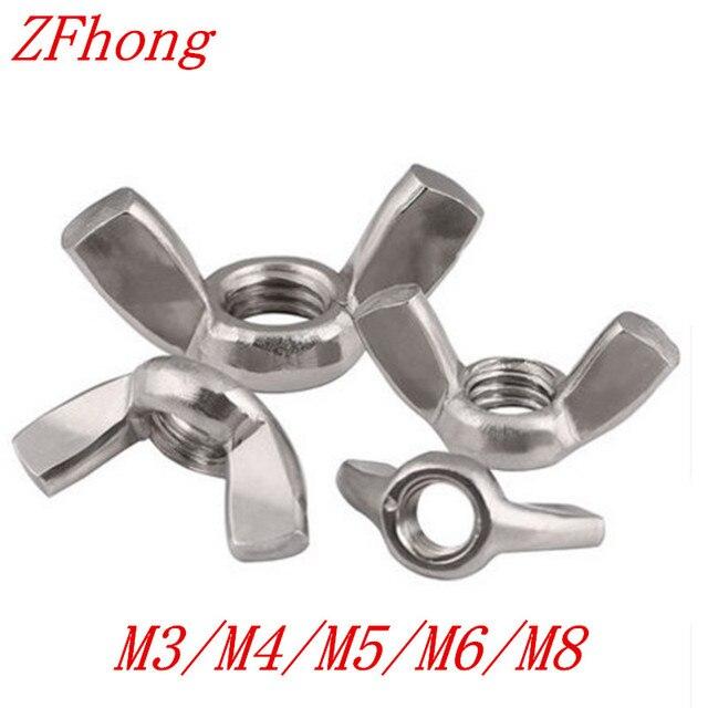 DIN315 M3 M4 M5 écrou à oreilles | M6 M8 304 en acier inoxydable, serrer à la main écrou papillon, écrous à oreilles