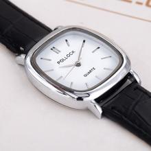Модные женские часы Простой reloj mujer повседневная женская обувь часы лучший бренд роскошь площадь золото пару часов Женщины Бесплатная доставка