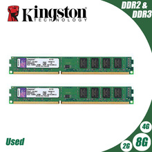 Kingston PC mémoire RAM Module de mémoire ordinateur de bureau 1 go 2 go PC2 DDR2 4 go DDR3 8 go 667MHZ 800MHZ 1333MHZ 1600MHZ 8 go 1600