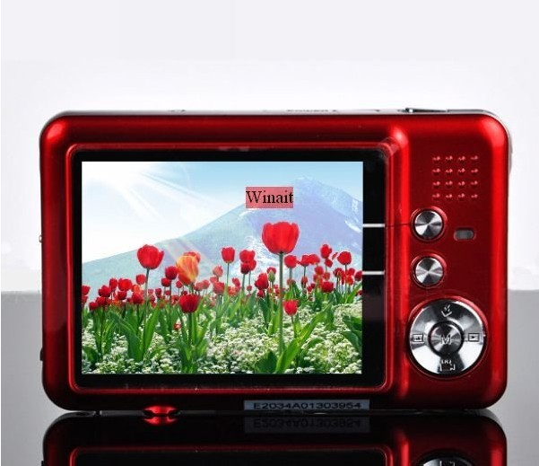 "NEW 12.0 MP 2.7""TFT LCD DIGITAL CAMERA DC-500FE 8 x digital zoom, Anti-shake,, camera bag, free shipping"