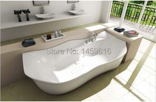 ** 2050x880x630 MM SANDRA STONE SOLID SURFACE BATHTUB MAN-MADE STONE TUB OCAN SHIPPING FREE1012 **