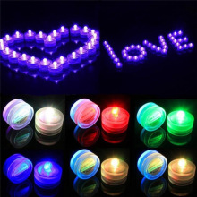 Electronic Candle Light Romantic Waterproof Submersible LED Tea Light for Wedding Party Christmas Valentine Decoration 20pcs/lot