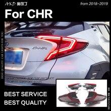 AKD автомобильный Стайлинг задний фонарь для Toyota CHR задний фонарь 2018-2019 CHR светодиодные задние фары DRL динамический сигнал тормоза авто аксессуары