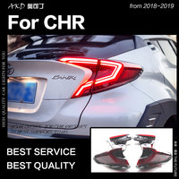AKD Car Styling Tail Lamp for Toyota CHR Tail Light 2018 2019 CHR LED Rear Lamp DRL Dynamic Signal Brake auto Accessories