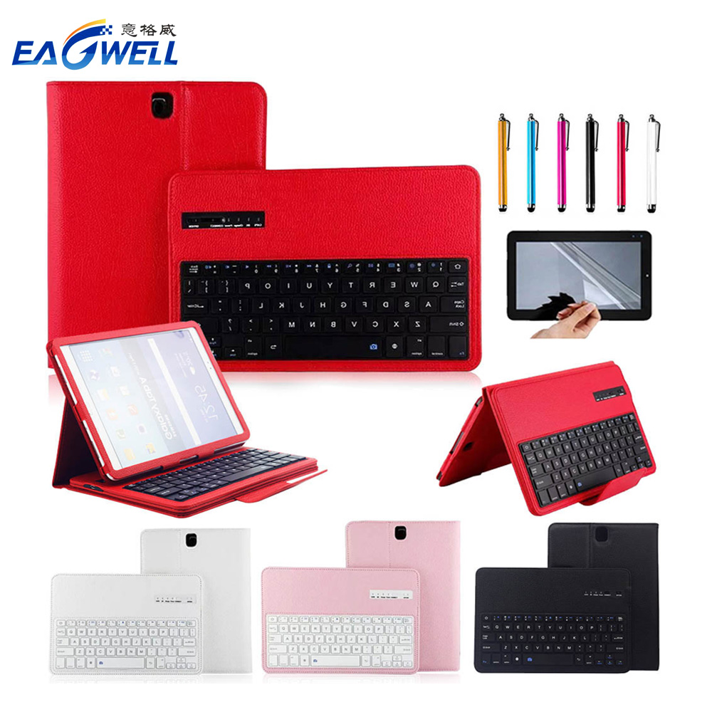 2 in 1 Removable Wireless Bluetooth Keyboard Case For Samsung Galaxy Tab S3 9.7 T820/T825 Tablet PC Case With Keyboard new detachable official removable original metal keyboard station stand case cover for samsung ativ smart pc 700t 700t1c xe700t