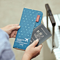 2016 New Passport Cover Pink Travel Wallet Passport Holder Document Organizer Travel Wallet Passport Cover Pink Blue