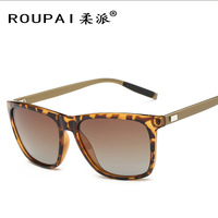New Sunglasses For Men Aluminum Magnesium Square Bright Color Polarized Sunglasses Oculos Masculino Wholesale NR36
