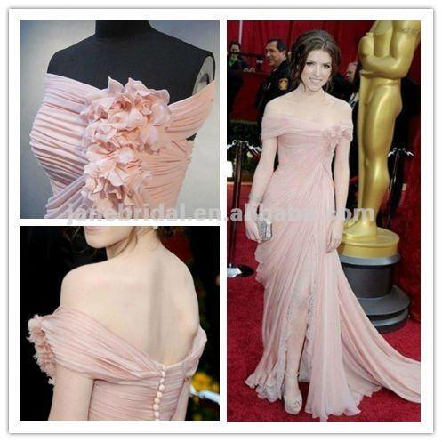 Best Ing Freeshipping Shining Elegant And Clical Off Shoulder Chiffon Evening Dress Celebrity