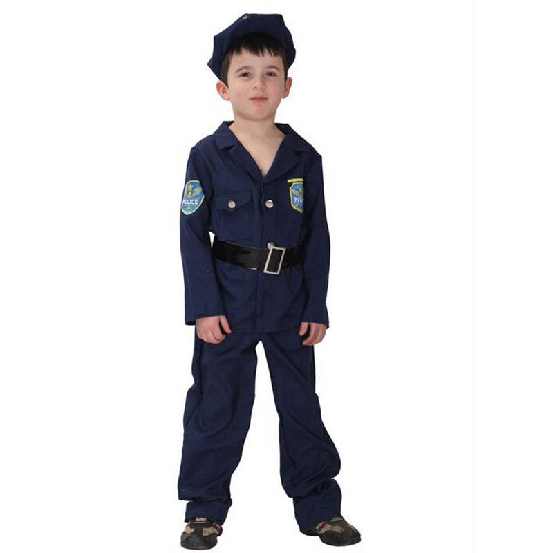 Mici băiat Heroic politist Cosplay Frumos Uniforme albastru Partidul - Costume carnaval