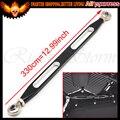 Con Logo 330mm Negro CNC Gear Shift lever Vinculación enlace Brazo para Harley Heritage Softail Electra Glide