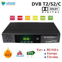 Vmade Combo DVB-S2/T2/C Satellite TV Receiver Box Support AC3/Dolby TPIV Cccam Powervu Bisskey Wifi Pvr Turner Set Top Boxes