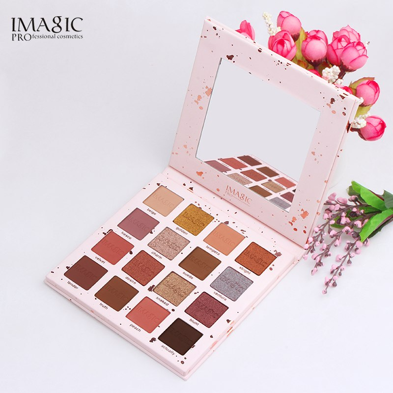 New Pink Pop 16 Colors Eyeshadow Matte Shimmer Glitter Easy To Wear Eye Shadow Palette Long-lasting Eye Shadow Highly Pigmented Beauty Essentials