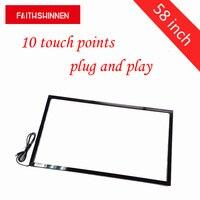 58 дюймов ИК сенсорный экран комплект/ИК кадров инфракрасный Multi touch screen overlay для интерактивного smart board