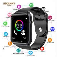 Orologio da polso Bluetooth Intelligente Della Vigilanza di Sport Pedometro Uomini di Modo Con SIM della Macchina Fotografica Smartwatch per Android HUAWEI non iWatch PK DZ09