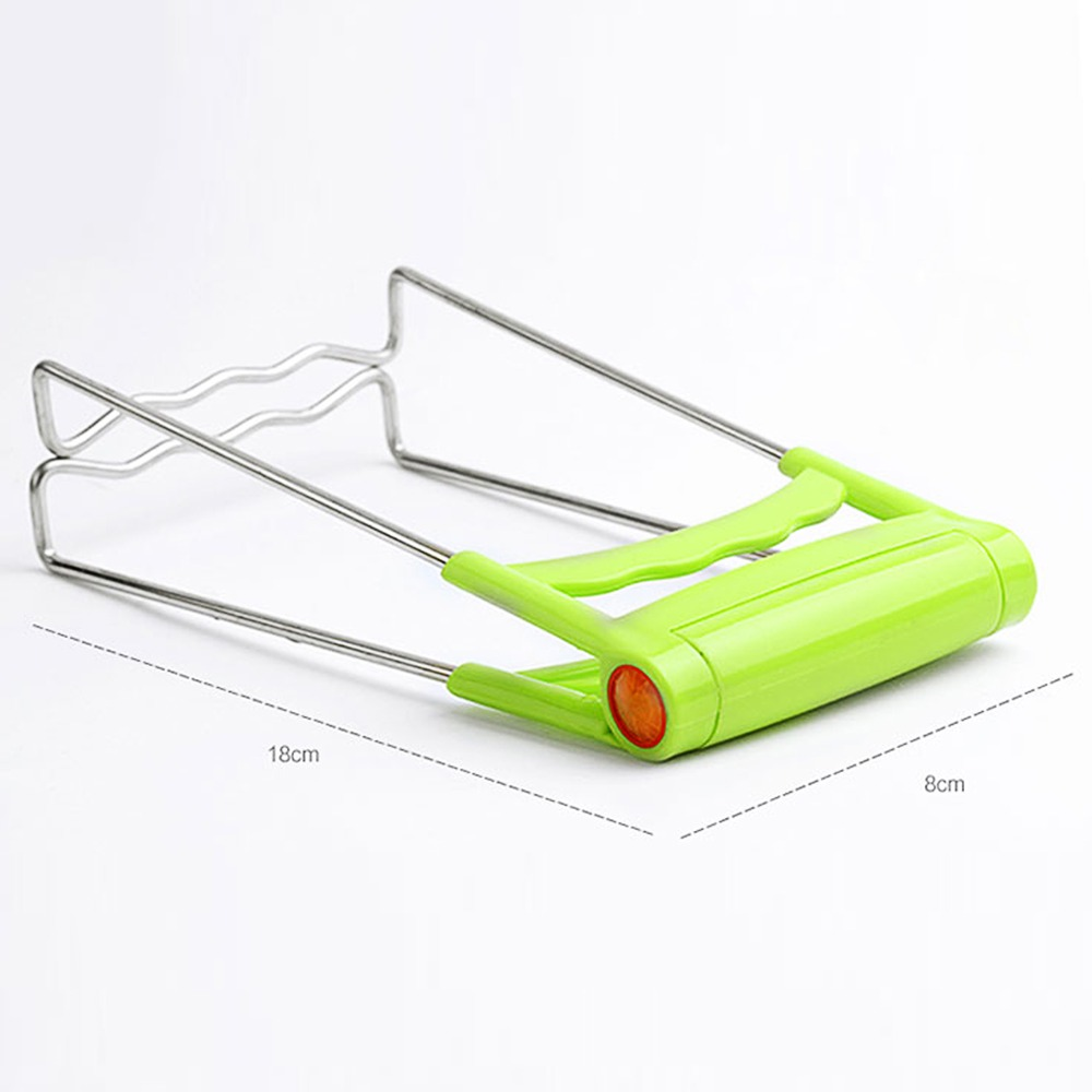 Kitchen Stainless Steel Foldable Hot Dish Plate Bowl Clip Pots Gripper Microwave Oven Dishes Bowl Clamp Lifting Device Claw Hold in Utensil Sets from Home Garden