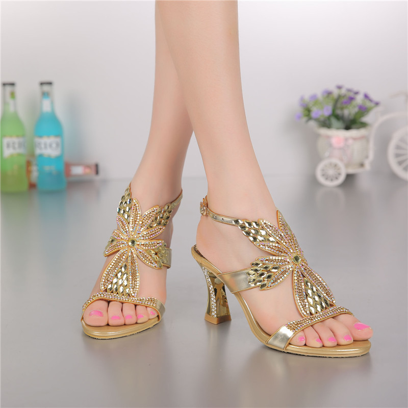 2018 Summer Style New Leather Elegant Bridal Sandals