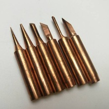 6Pcs Copper Soldering Tips Lead-free Welding Head Rework Station 900M-T Electric Solder Iron Tips Repair Tools Set 2016 new high power 75w industrial grade lead free station 936b electric iron welding soldering rework repair tool