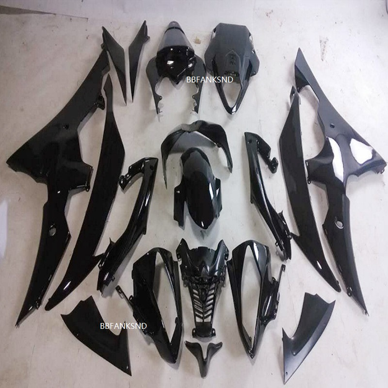 Hot Injection mold <font><b>Fairing</b></font> kit for YAMAHA YZFR6 08 09 10 12 14 <font><b>YZF</b></font> <font><b>R6</b></font> <font><b>2008</b></font> 2010 2014 ABS whole black <font><b>Fairings</b></font> <font><b>set</b></font> image