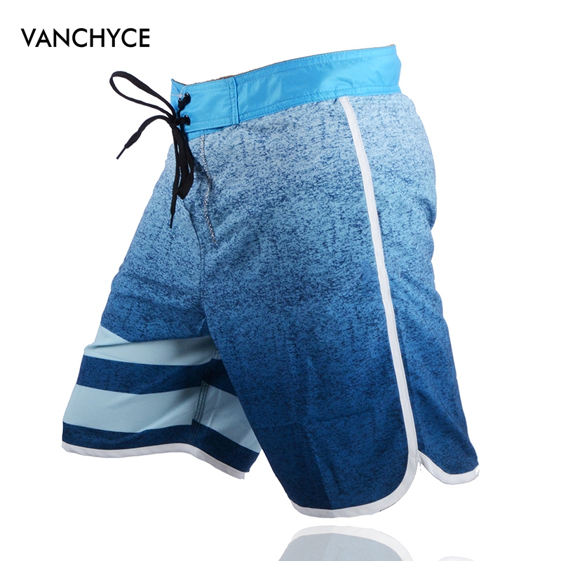 VANCHYCE  Swimwear Men Beach Shorts Men Bermuda Short Quick Dry Silver Mens Boardshorts Summer Shorts Men Board Shorts Brand