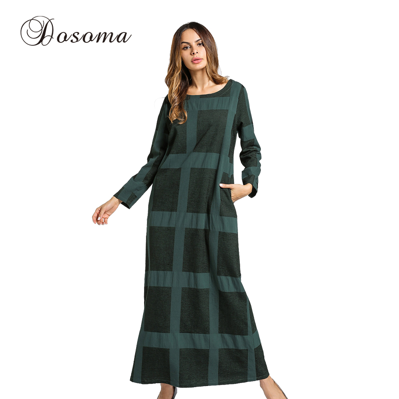 half off ce9a1 24f42 Vestito di Lana di moda Inverno Addensare Warm Maxi Abaya ...
