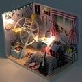 Alta qualidade Hoomeda DIY casa de bonecas de madeira brinquedos de mobiliário de casa melhor presentes de decoração para crianças