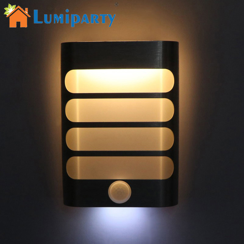 Lumiparty LED Night Light with Motion Sensor Wireless Wall Night Lamp Auto On Off for Kid