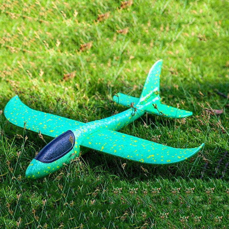 48CM main jeter mousse avion jouets en plein air lancement planeur avion enfants cadeau Jouet gratuit mouche avion jouets Puzzle modèle Jouet 3