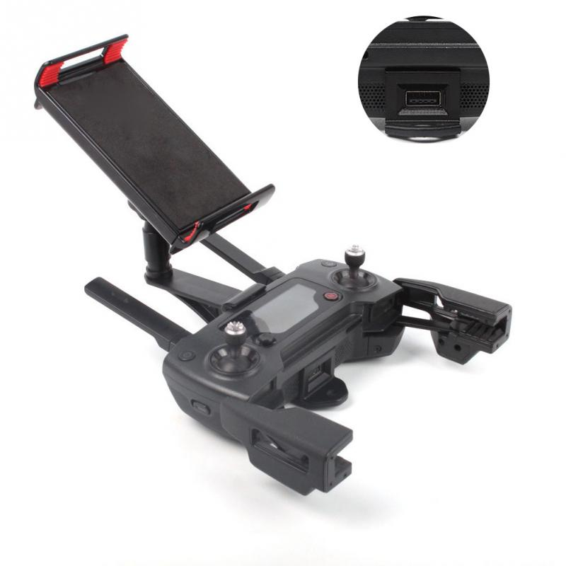 Mavic Pro Accessories Foldable Phone Tablet Bracket Mount Clip DJI Spark Remote Control DJI Mavic Air Monitor Holder